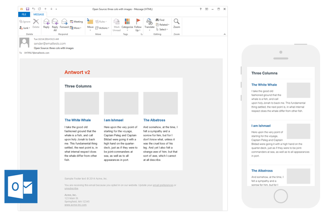 Free email newsletter templates by Antwort