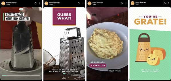 Food Network Snapchat Discover Story