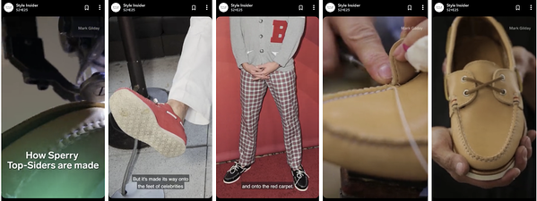 Sperrys Snapchat Discover Story on Style Insider Channel