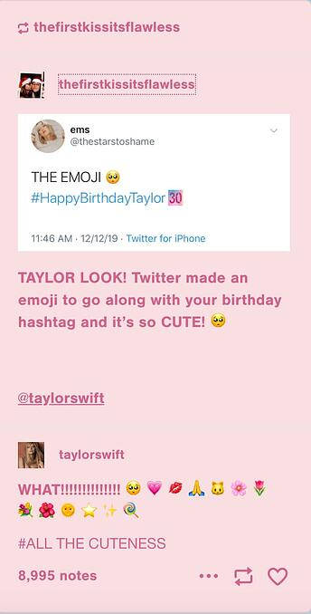 Taylor Swift uses Tumblr to reveal personality and brand identity.
