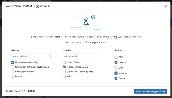 linkedin company page content suggestions