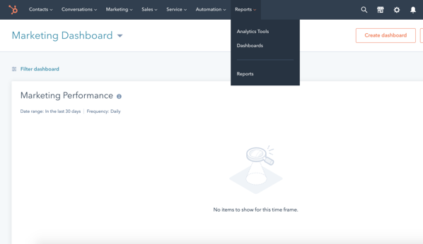 HubSpot Analytics tool can build charts for your reports.