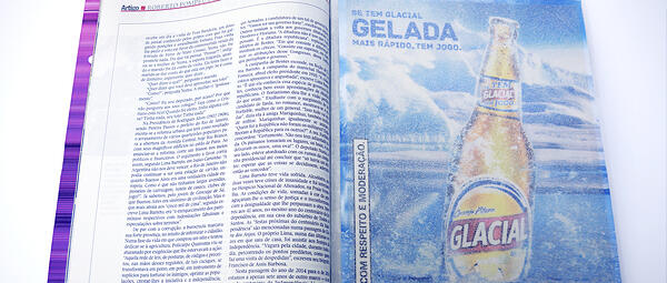 Example of Glacial print ad in a magazine.