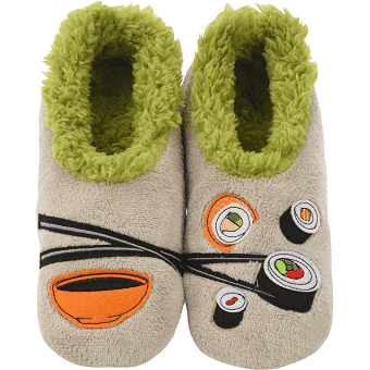 Snoozies Pairables Womens Slippers - House Slippers - Sushi