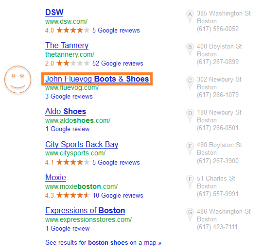 Local search page.