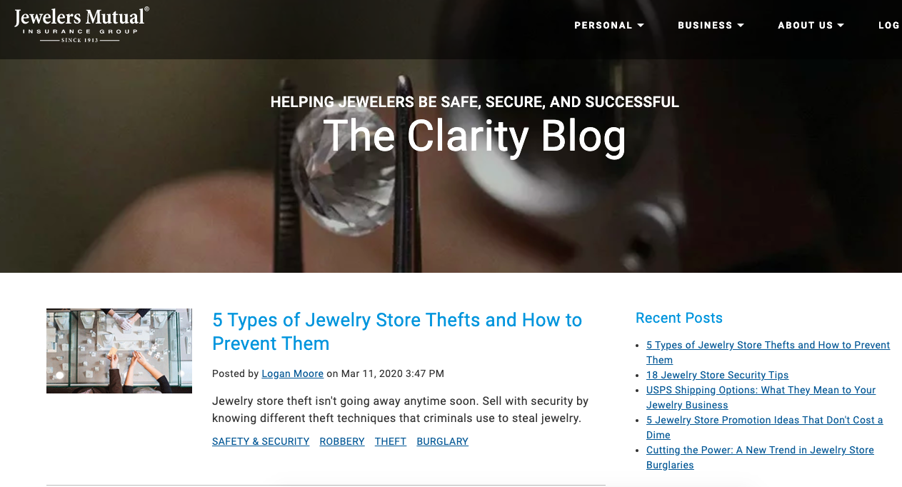 The Clarity Blog Homepage