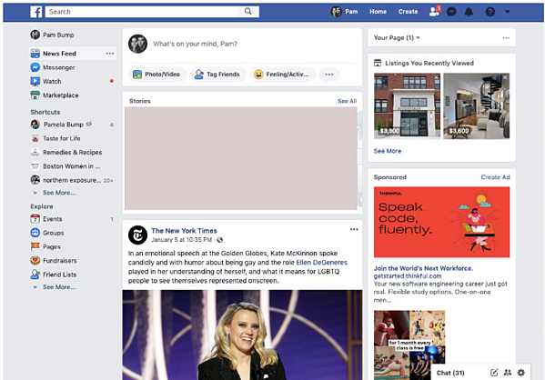 Facebook News Feed in 2020