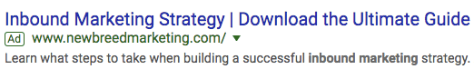 new breed marketing google ads campaign