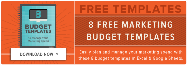 download free marketing budget templates