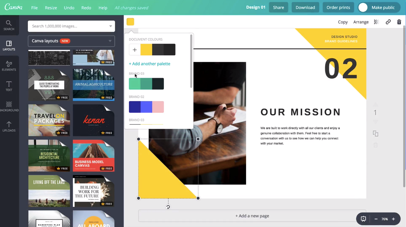 Example of a Canva template