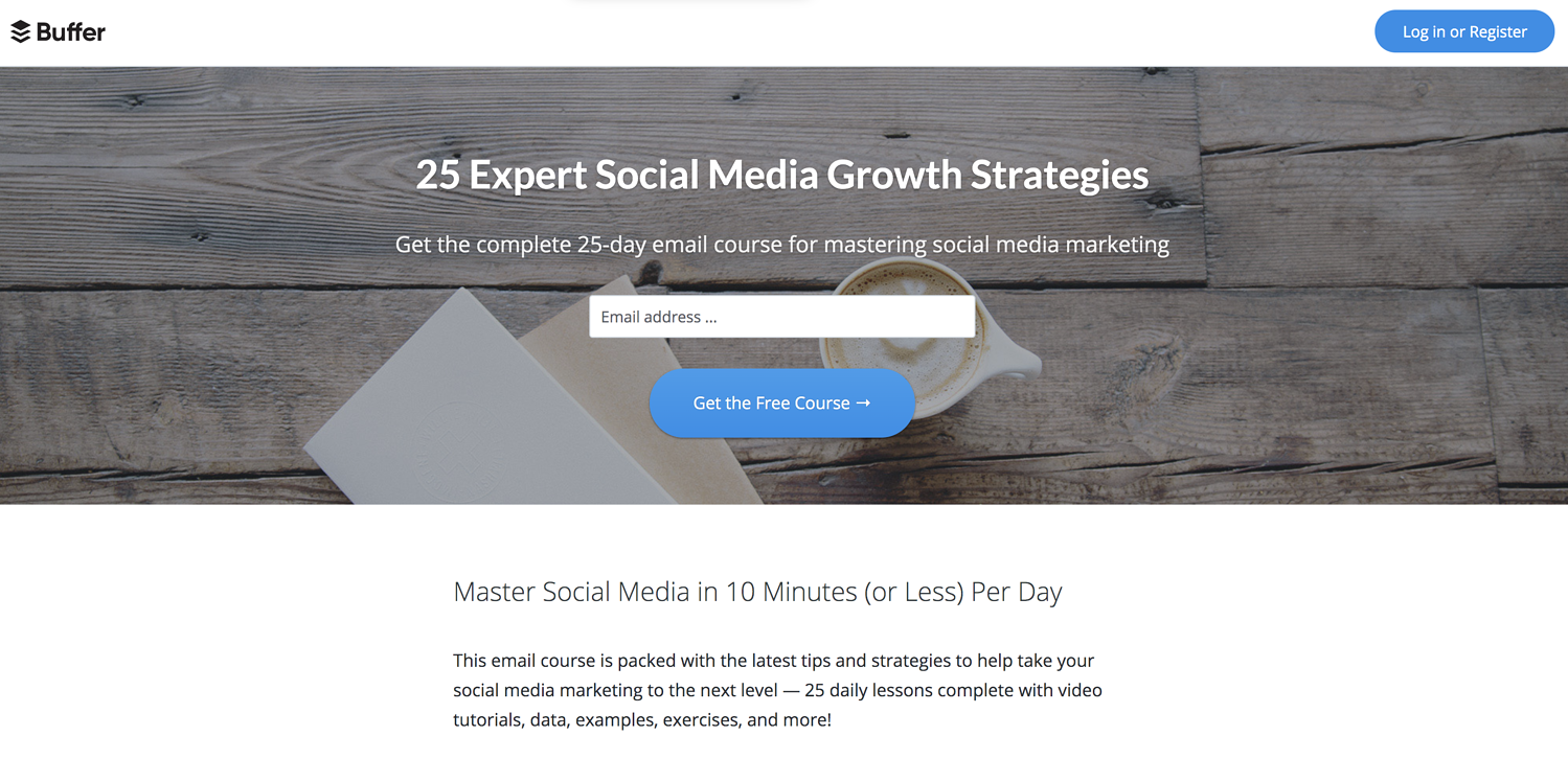 email course creative lead generation ideas