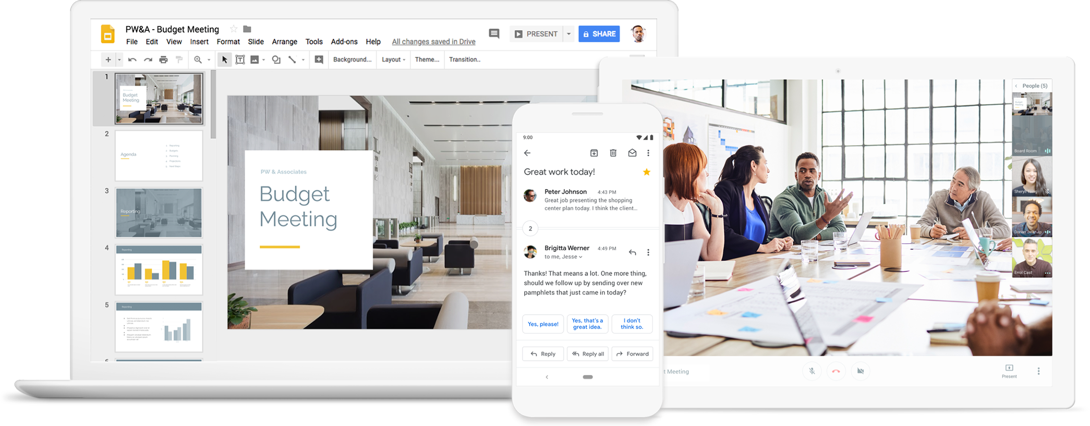 G Suite products for remote or dispersed teams