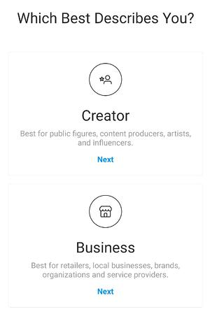 instagram additional details about business account