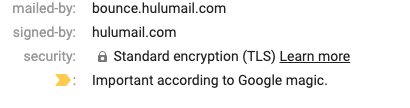 What a DKIM signature looks like in an email header.