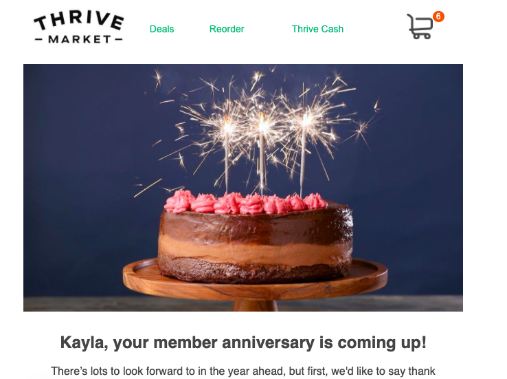 Example of a remarketing email.