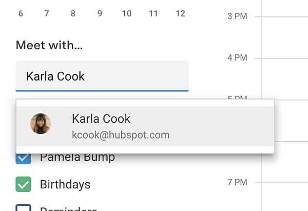 Meet with feature on Google Calendar