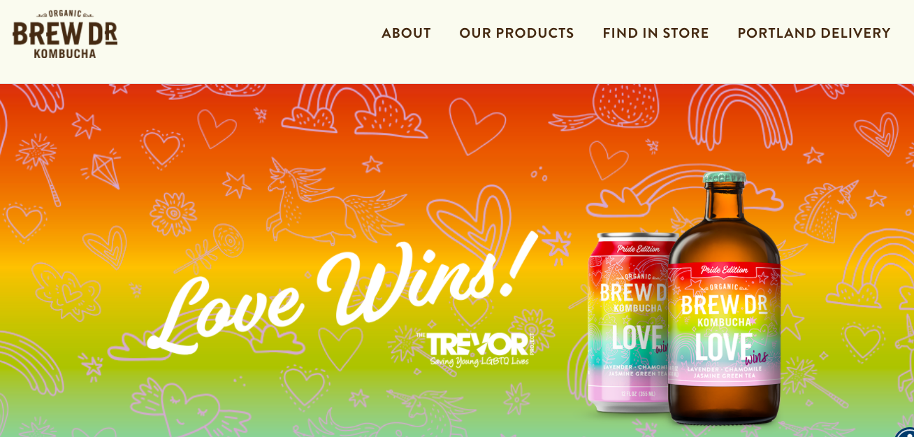"""The """"Love Wins"""" campaign for Brew Dr."""