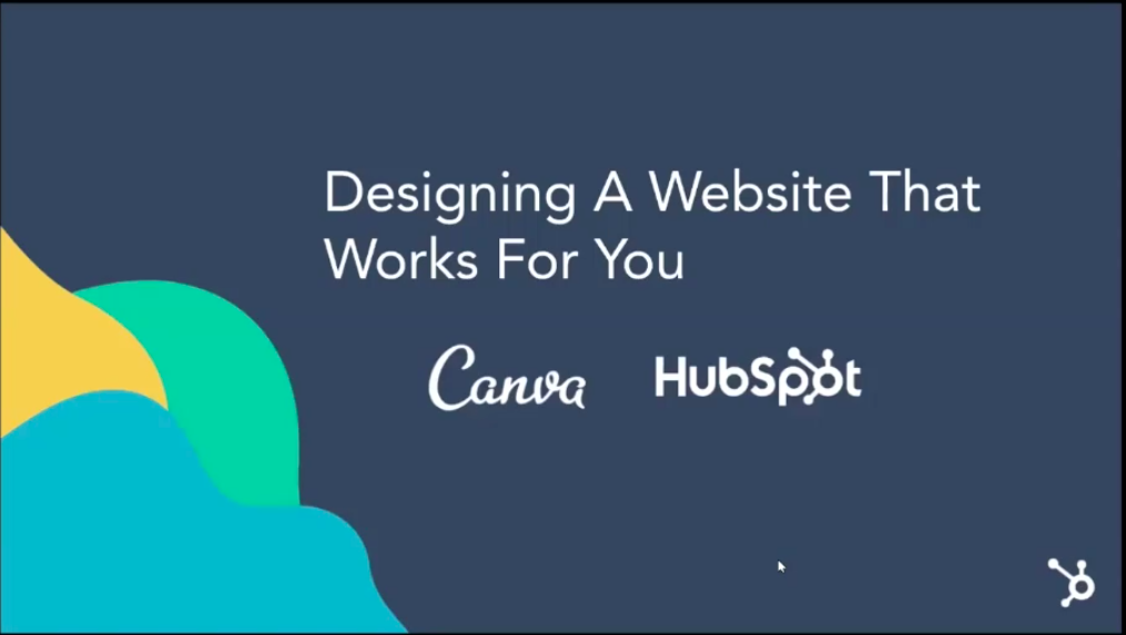 Adapt 2020 lesson on website design with Canva and HubSpot.