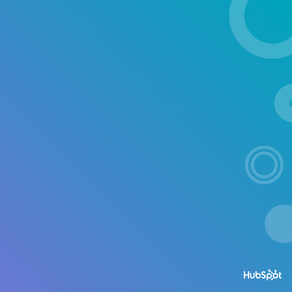 Blue Zoom background with bubbles made by HubSpot.