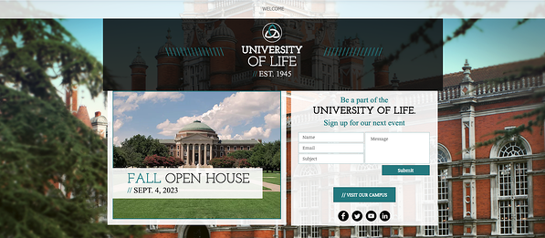 University Landing Page Template from Wix