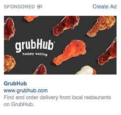 Facebook Ad with single image on desktop right column