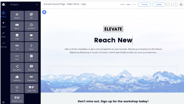 building a landing page using leadpages