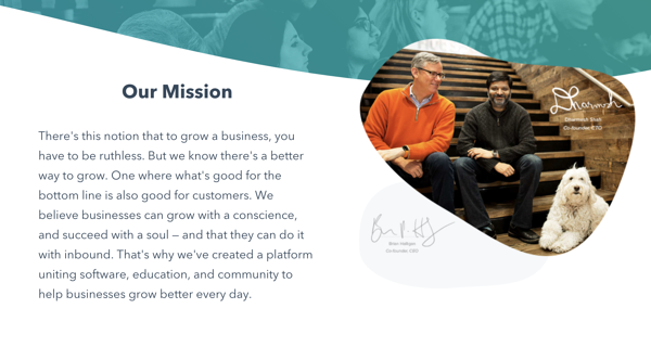 HubSpot Company Description and mission statement.