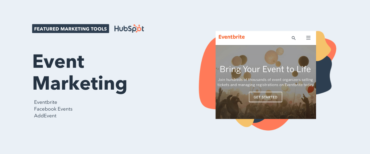 event marketing tools, including eventbrite, facebook events, and addevent